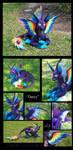 ''Darcy'' - Dog Dragon Plushie by Lithe-Fider