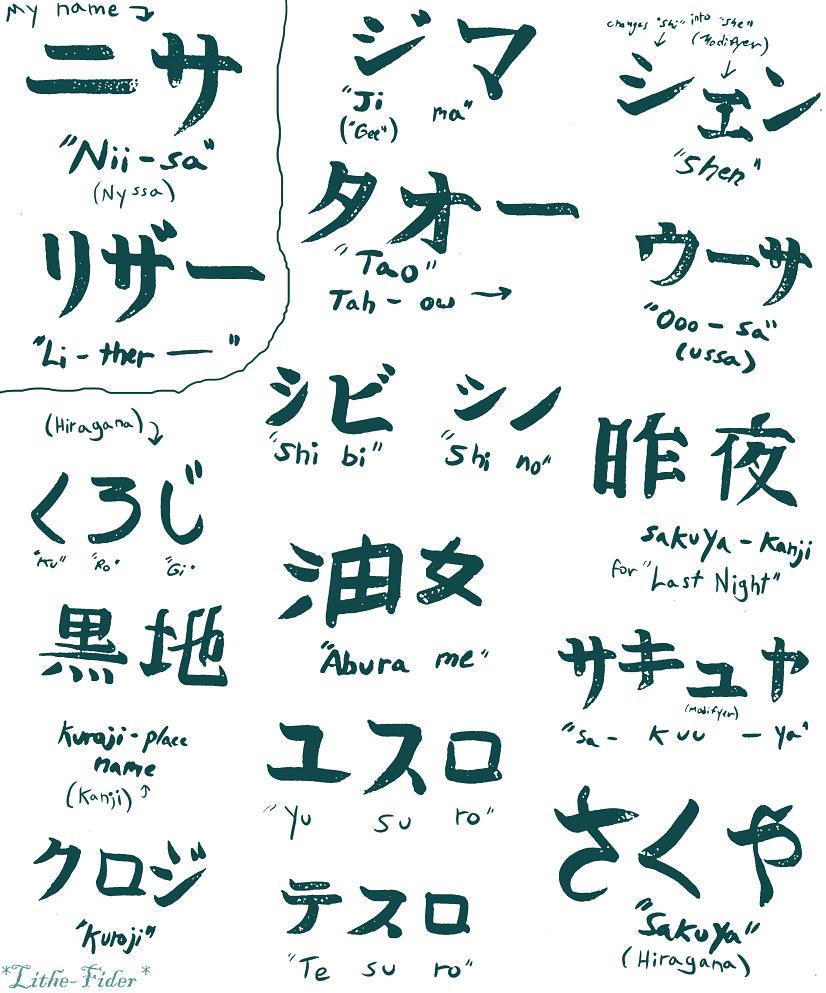 Hiragana Handwriting: Aburame Katakana And Hiragana By Lithe-Fider On DeviantArt