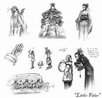 Aburame Ichizoku Illustrations by Lithe-Fider