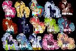 MLP Pony adoptables [3/15 OPEN]