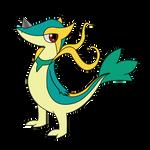 Dragon type Snivy