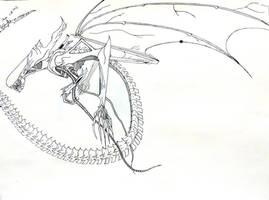 Winged Xenomorph by Ovvscolofex