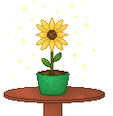 pixel sunflower by tiny-paper-stars