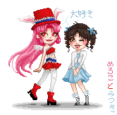 Meroko + Mitsuki by tiny-paper-stars