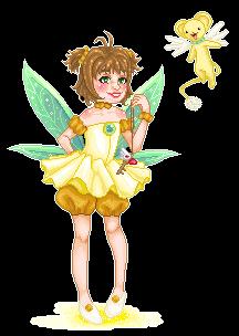 Green Fairy Sakura by tiny-paper-stars