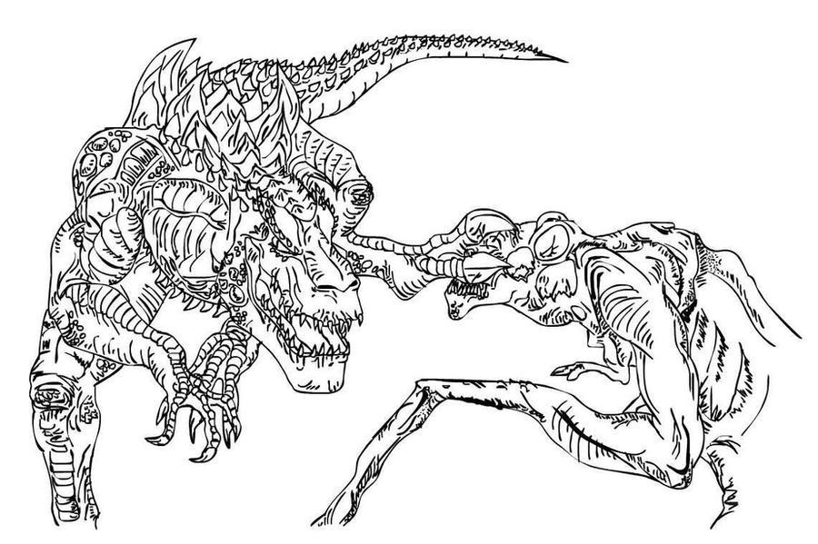Cloverfield Monster Coloring Page