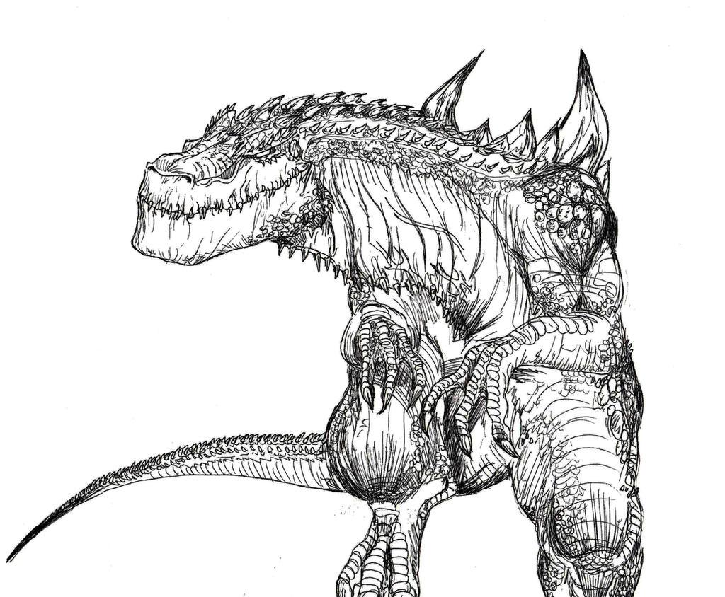 Moderno Godzilla 1998 Para Colorear Imagen - Dibujos Para Colorear ...