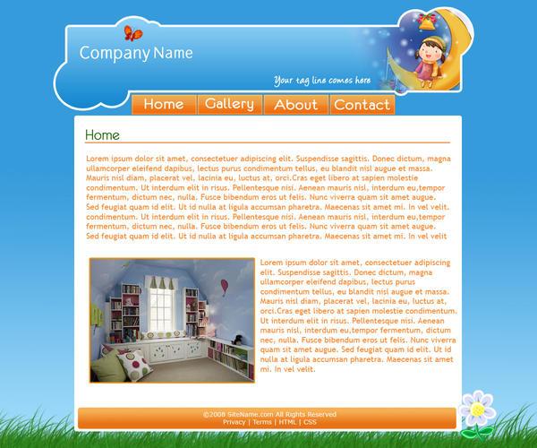 Kids Site Website Psd By Rjoshicool On Deviantart
