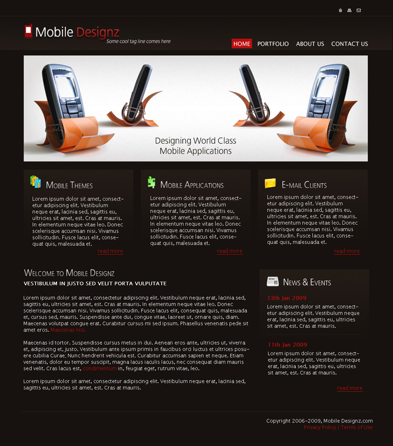 Mobile Design PSD Template by rjoshicool on DeviantArt
