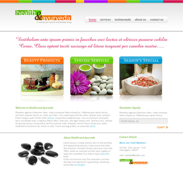 Health Ayurveda PSD Template by rjoshicool
