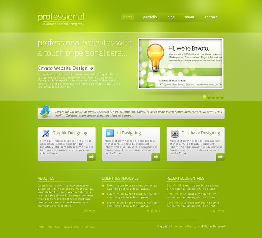 Free Premium Website PSD Template by rjoshicool on DeviantArt
