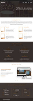 Sector- Free One Page PSD Template