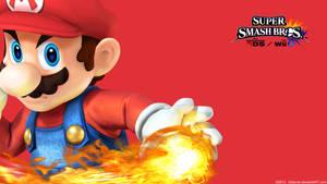 Mario |Wallpaper| Super Smash Bros. Wii U/3DS