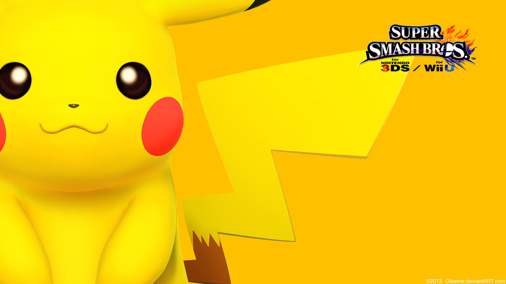 Pikachu |Wallpaper| Super Smash Bros. Wii U/3DS by Gibarrar