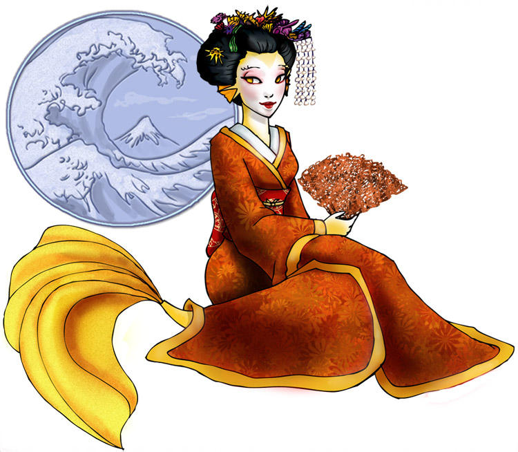 Mermaid Giesha by chronicdoodler