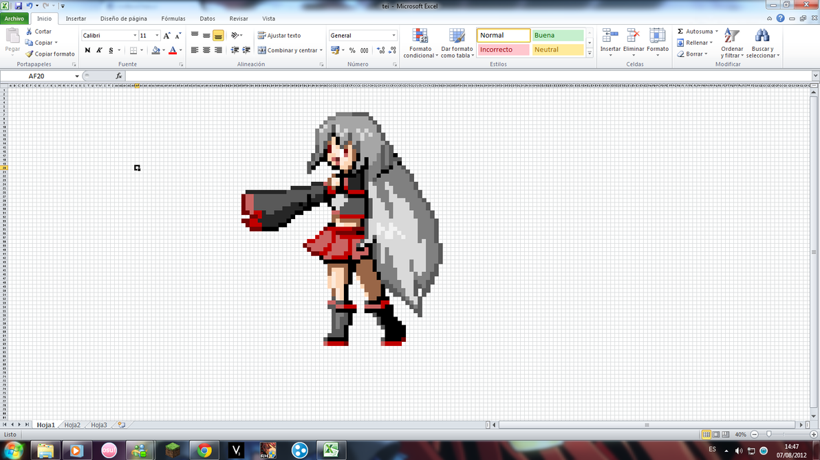 how to make pixel art in microsoft excel
