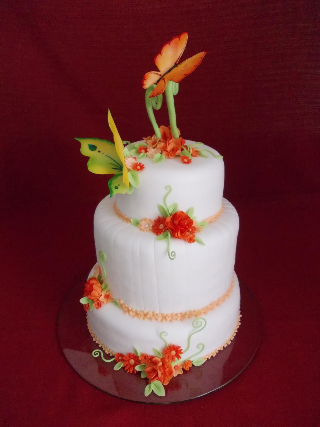 fly wedding cake by Nydrli