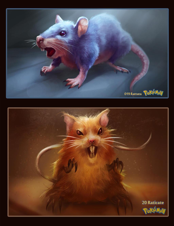 19-20 Rattata and Raticate by DanteCyberMan