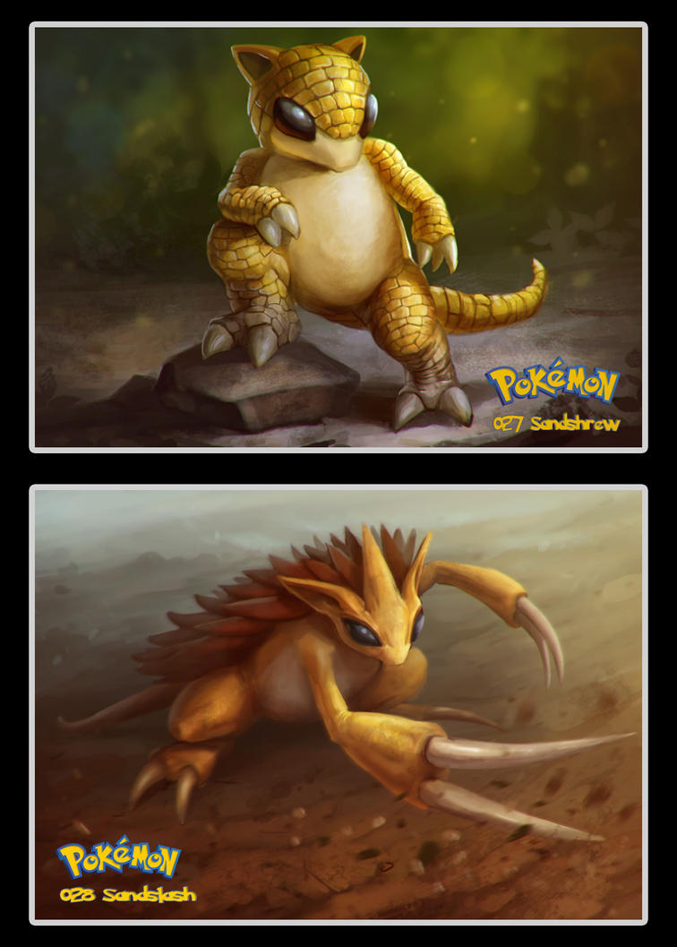 027 -028 Sandshrew and Sandslash by DanteCyberMan