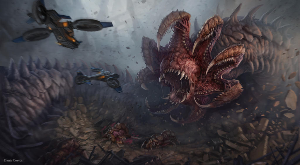 Nydus worm (starcraft) by DanteCyberMan