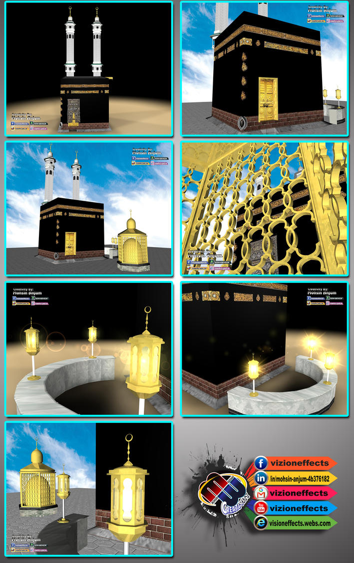 Holy_Kaaba 3D Model by MohsinBadshah