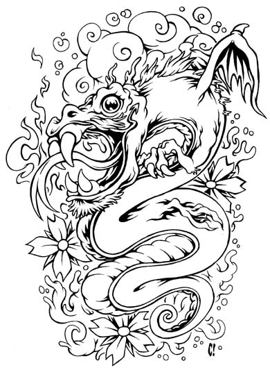 Baby Dragon bw version Baby Dragon