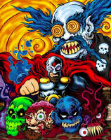 Captain Carnage vs Dr Twistid by MonsterInk