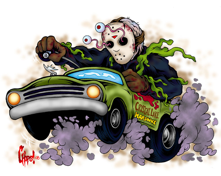 Jason On The Run by MonsterInk