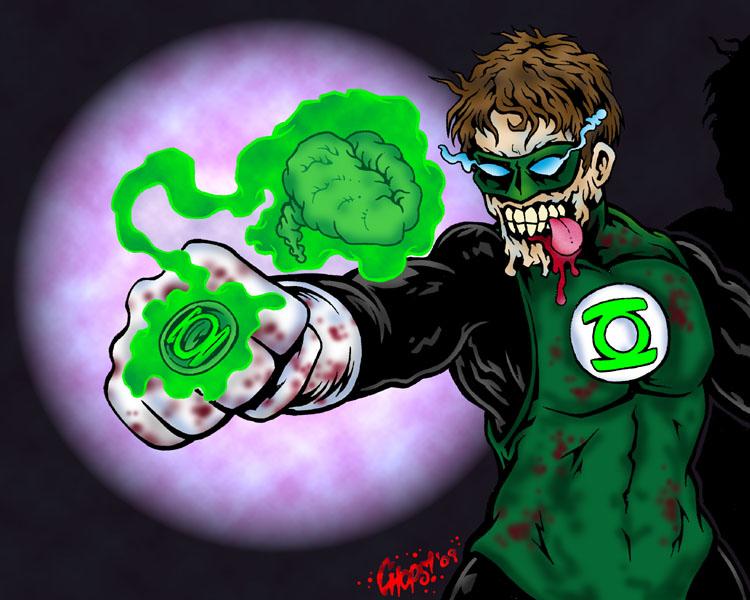 Zombie Green Lantern by MonsterInk