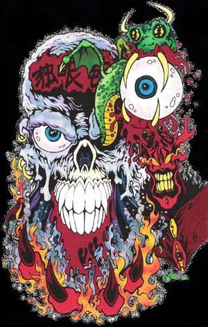 Skull Drag'n by MonsterInk