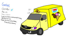 Gelat the ice cream truck(new oc)