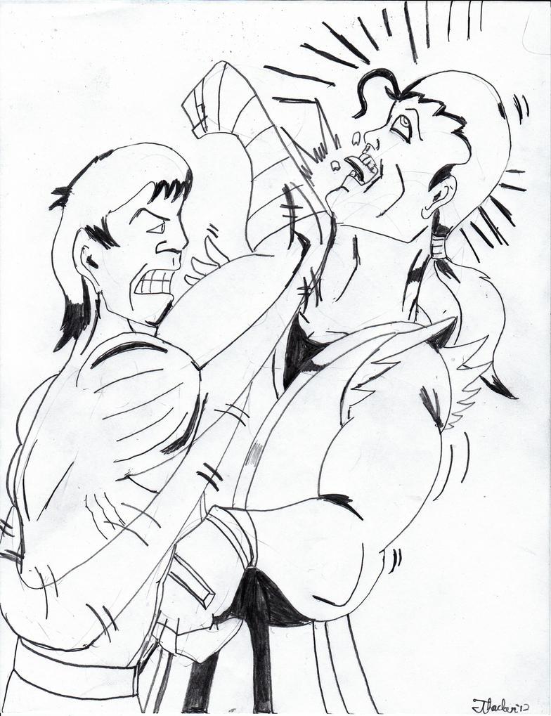BRAD VS DAN by Arak-8
