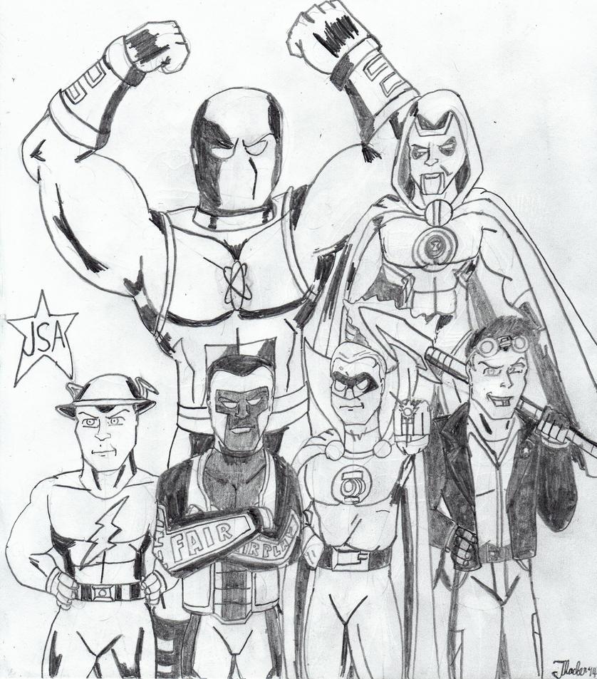 JSA Heroes! by Arak-8