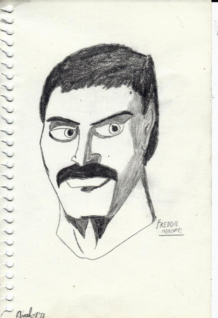 Freddie Mercury portrait by Arak-8