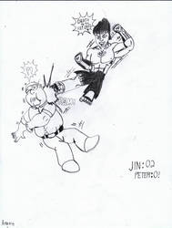 JIN KAZAMA VS PETER GRIFFIN! by Arak-8