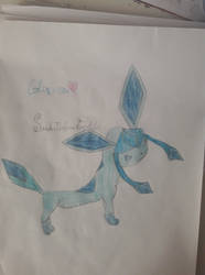 My own Glaceon drawing! by SandraTheHorrorFreak