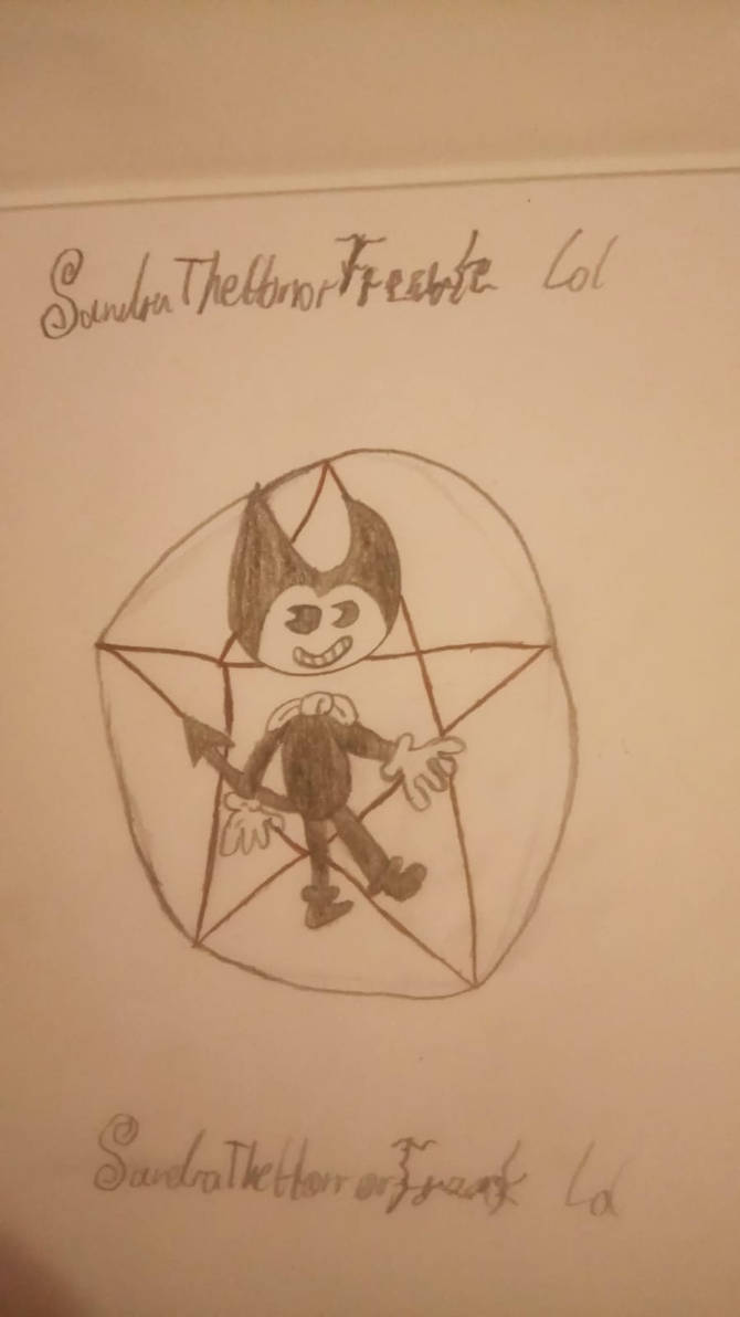 My own Bendy drawing, and also my own style! by SandraTheHorrorFreak