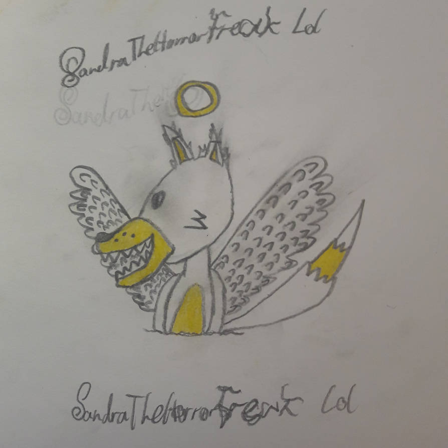 My own angel furry OC named.. angel! XD. by SandraTheHorrorFreak