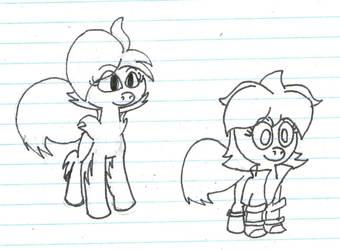 Terra and Chubeko ponies by Safalo