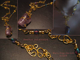 Amethyst and wirework by Marie-Ange-the-Celt