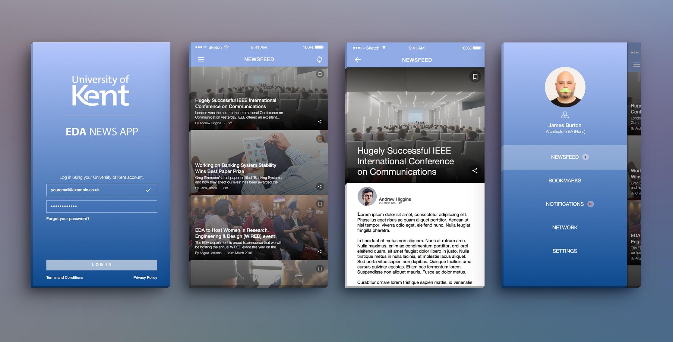EDA News Reader App Design by RobbHoyy on DeviantArt