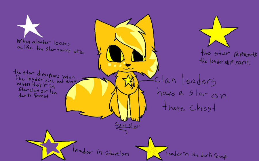 warrior cats concept art pt 1 clan leaders by
