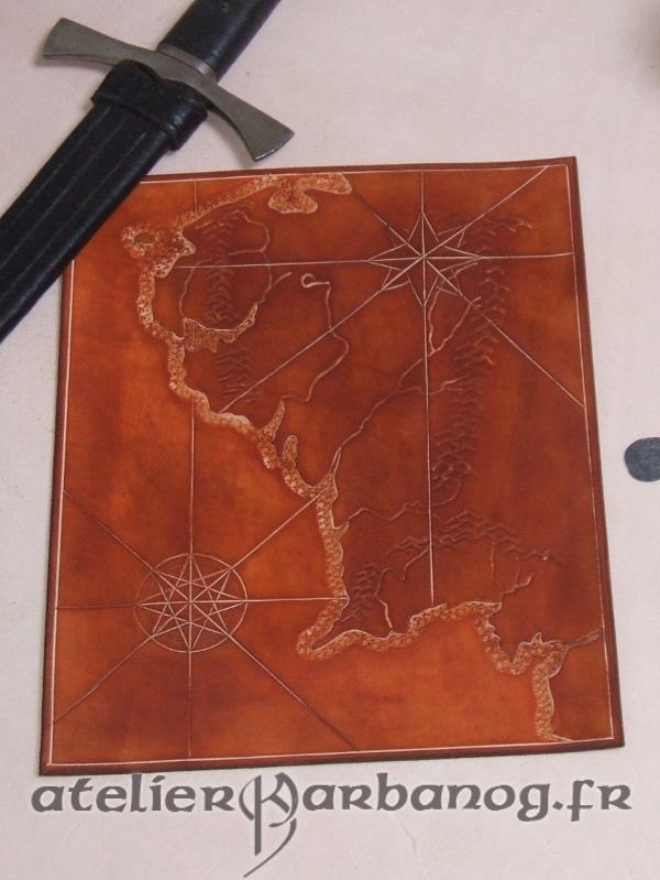 carte des terres du milieu - Middle earth map by Karbanog