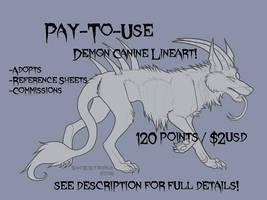 P2U Demon Canine Lineart!
