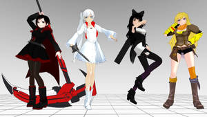 [MMD] Team RWBY!!! FOR DOWNLOAD by LordObelisk