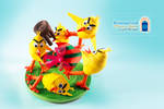 Brawl between chicks for an Easter egg ! by kyomoncraft