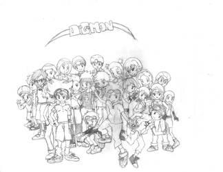 Digimon Remix by firekyuubisasuke