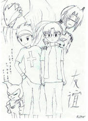 Digimon Friendship by firekyuubisasuke
