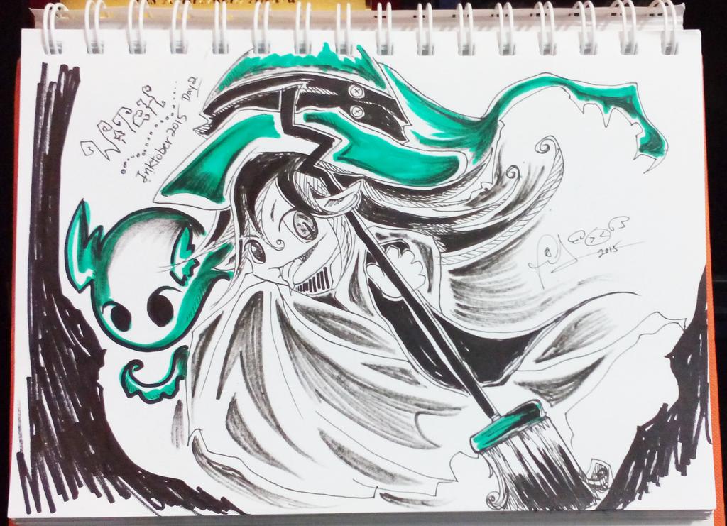 Inktober D2 - Witch by firekyuubisasuke