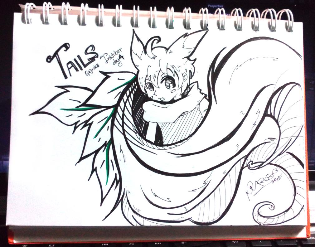Inktober D4 - Tails Gijinka by firekyuubisasuke